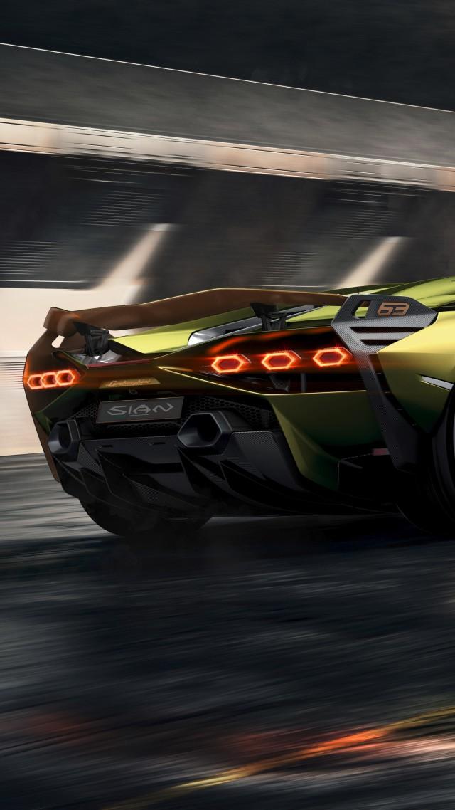 Wallpaper Lamborghini Sian, supercar, 2019 cars, 8K, Cars