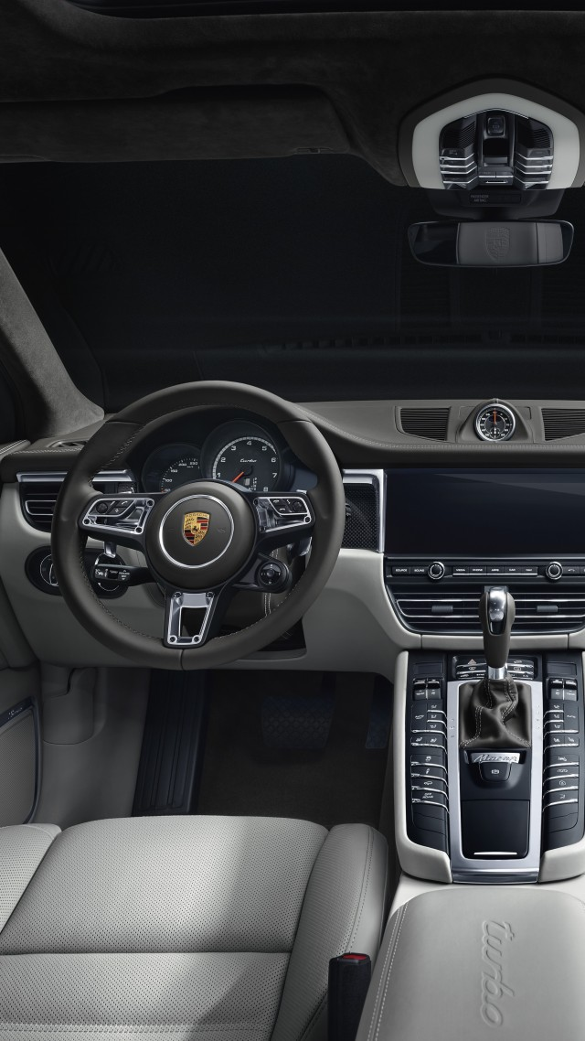 Porsche Macan Turbo, interior, 2019 cars, SUV, crossover, 5K (vertical)