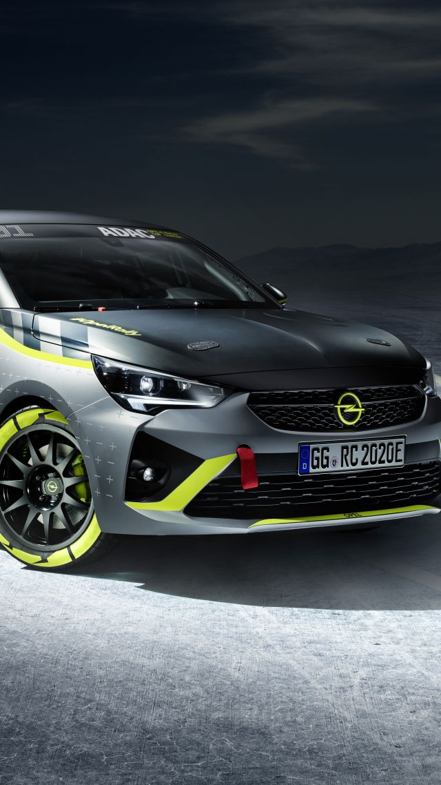 Opel Corsa-e Rally, electric cars, 2019 cars, 5K (vertical)