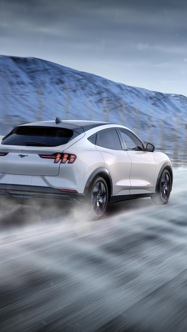 Ford Mustang Mach-E, SUV, 2021 cars, electric cars, crossover, 5K (vertical)