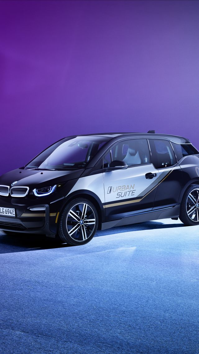 BMW i3 Urban Suite, CES 2020, electric car, 2020 cars, 4K (vertical)