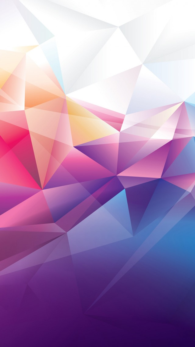 Purple Polygonal Abstract Background: Wallpaper Polygon, 4k, HD Wallpaper, Orange, Red, Blue