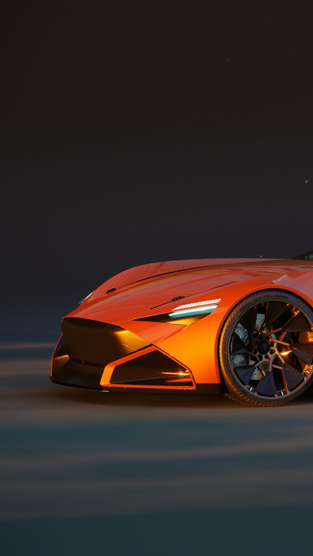 Continental Supercar, supercar, 4K (vertical)