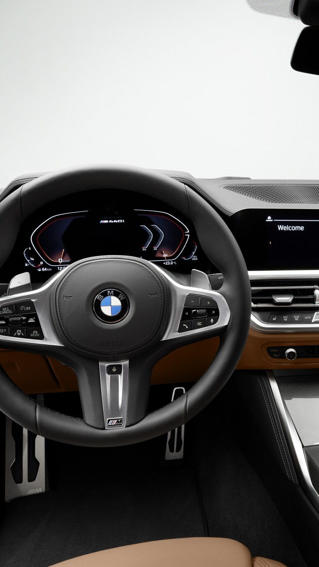 BMW 4 Series Hybrid, 2021 cars, electric cars, 4K (vertical)