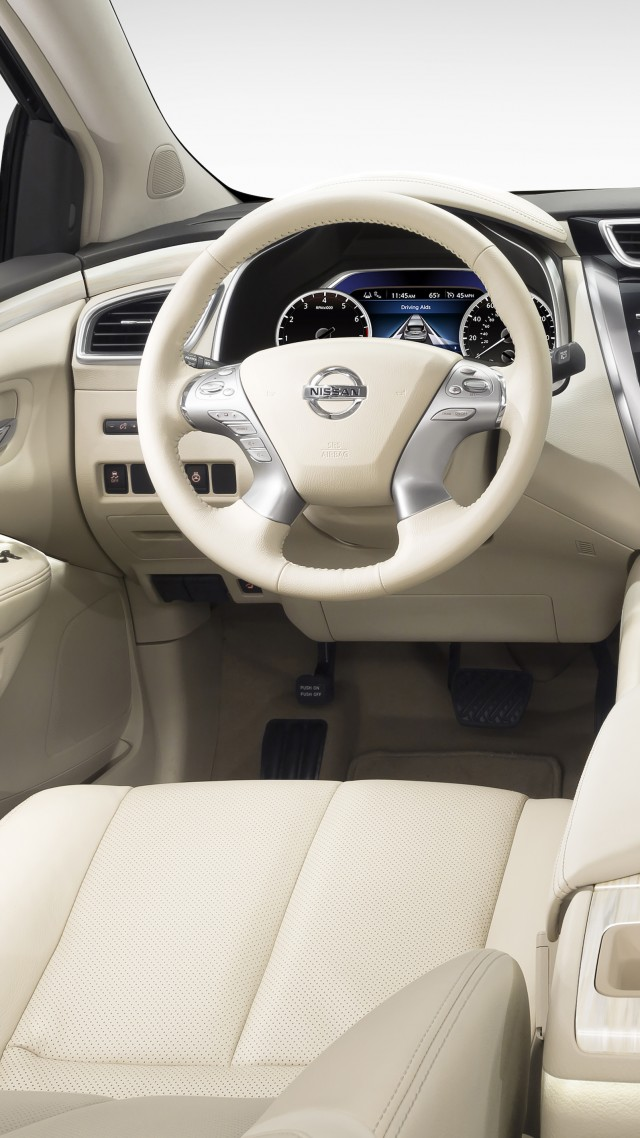 Nissan Murano, crossover, Nissan, interior, Gen 3, SUV, 2015 car, review, rent, buy, 2015 Detroit Auto Show. NAIAS (vertical)
