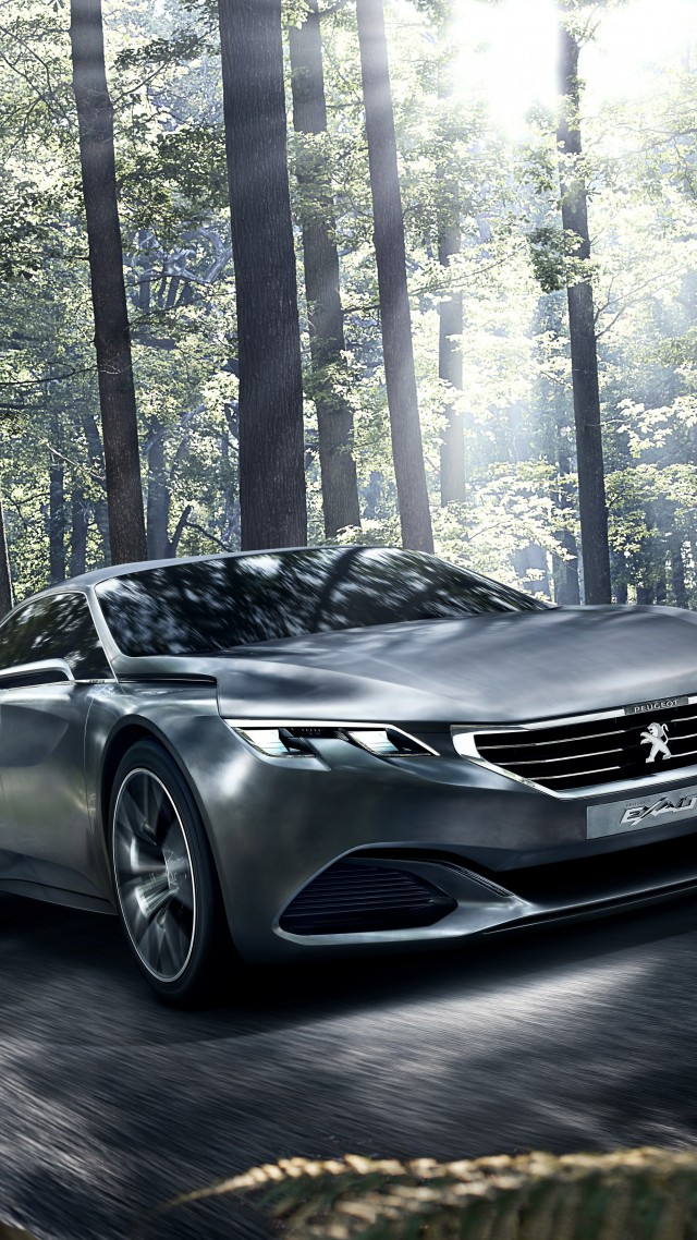 Peugeot Exalt, 5k, 4k wallpaper, electric cars, concept, Peugeot, review, test drive, forest (vertical)