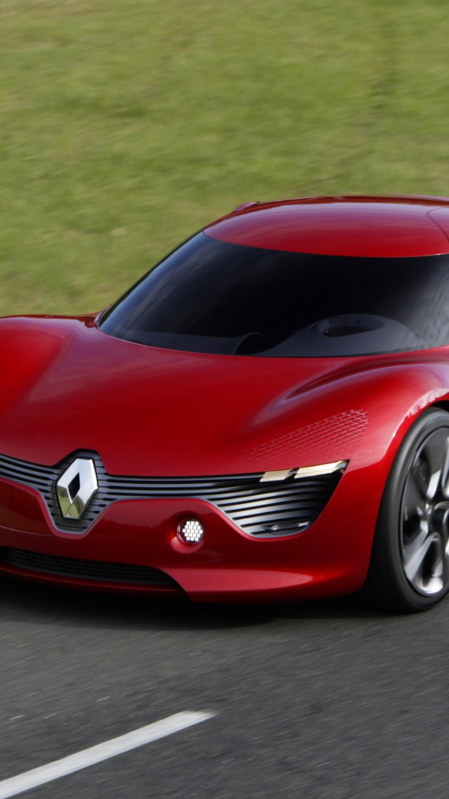 Renault DeZir, electric cars, Renault, concept, supercar, sports car, test drive, review, front (vertical)