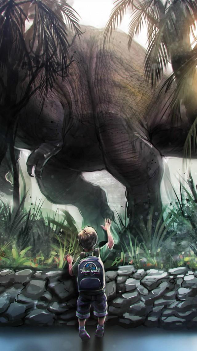 Wallpaper Jurassic World Dinosaurs movie film boy dinosaur