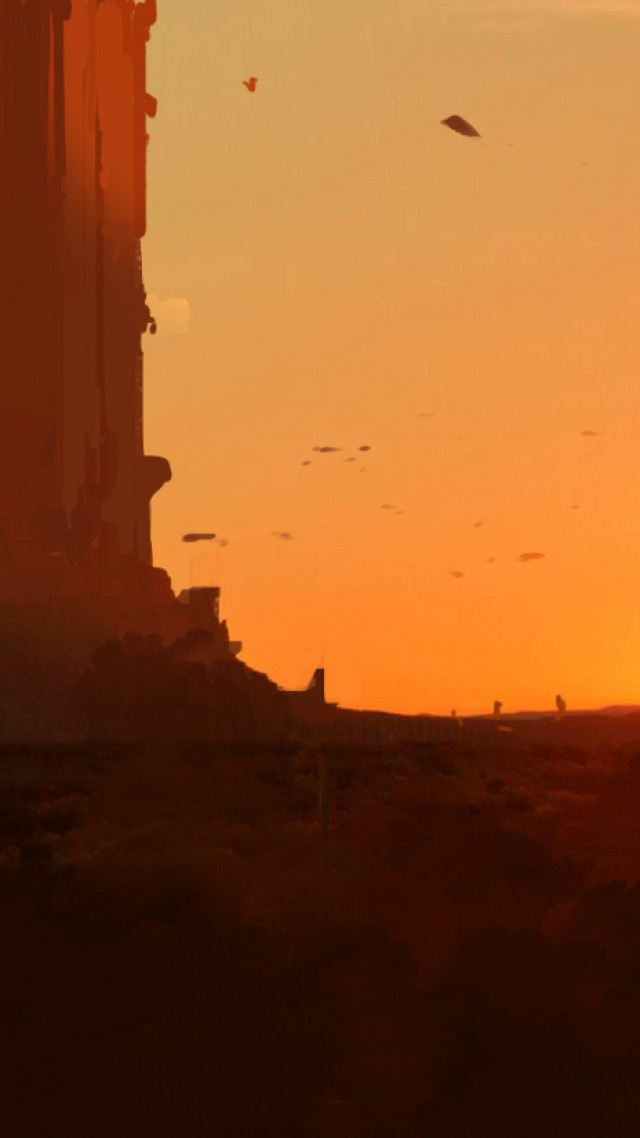 sunset, 4k, HD wallpaper, art, matte painting (vertical)