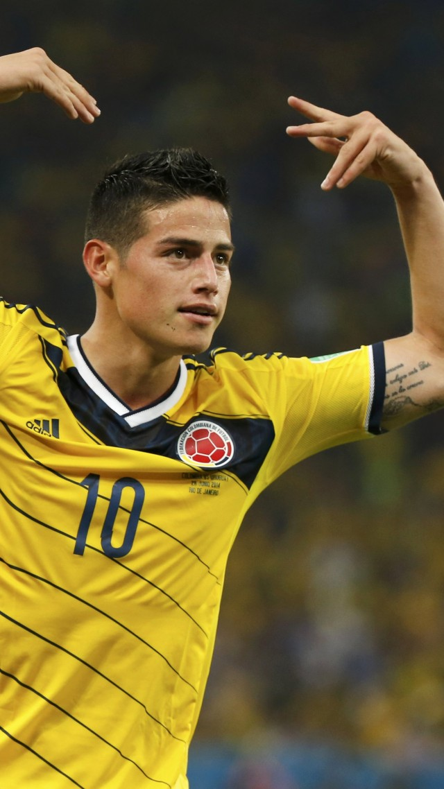 Wallpaper Football, James Rodríguez, The best players 2015, FIFA World Cup, Real Madrid ...