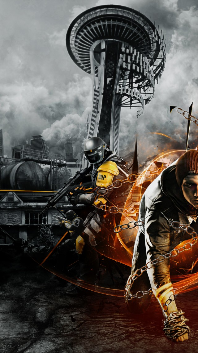 wallpaper infamous second son game seattle cole