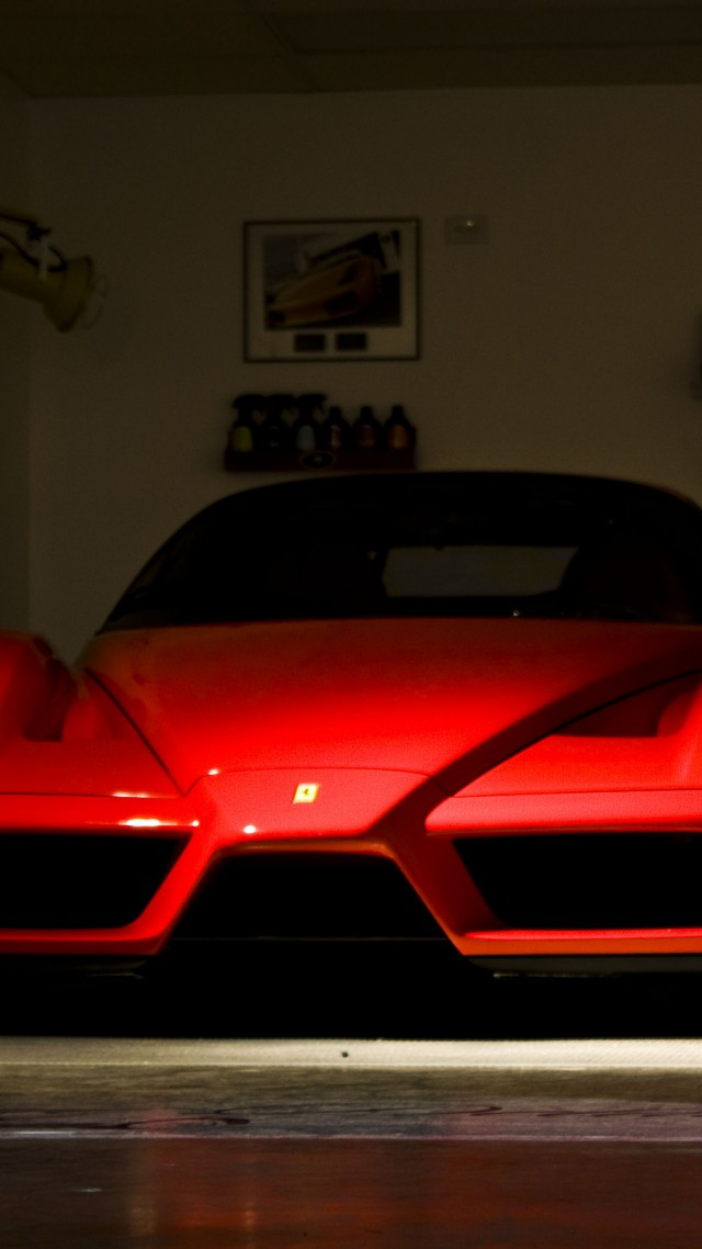 Enzo Ferrari, supercar, luxury cars, sports car, test drive, review, front, red, buy, rent (vertical)