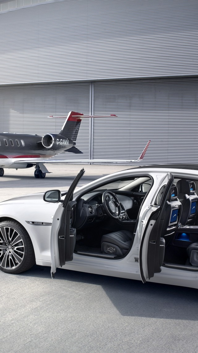 Jaguar XJ, X351, luxury cars, sports car, supercar, test drive, review, aircraft, runway (vertical)