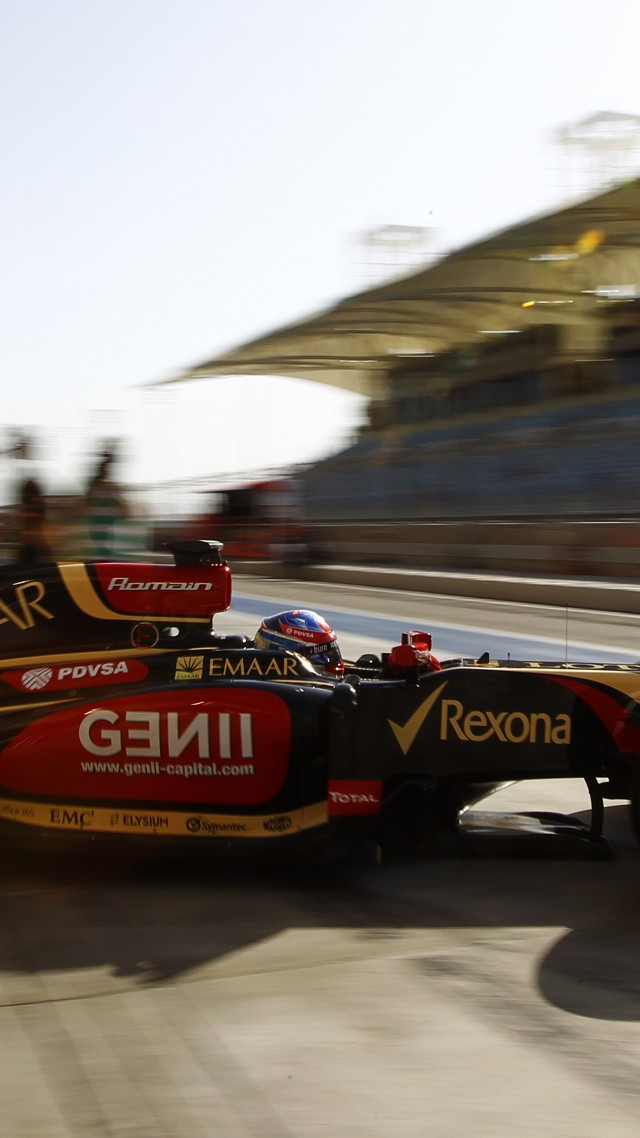 Lotus E22, Formula 1, F1, test drive, 2015, review, side, front, Bahrain, racing, sports car (vertical)