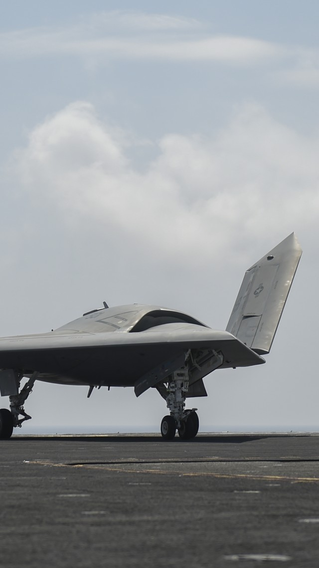 X-47B, drone, UCAS-D, Pegasus, USA Army, U.S. Air Force (vertical)