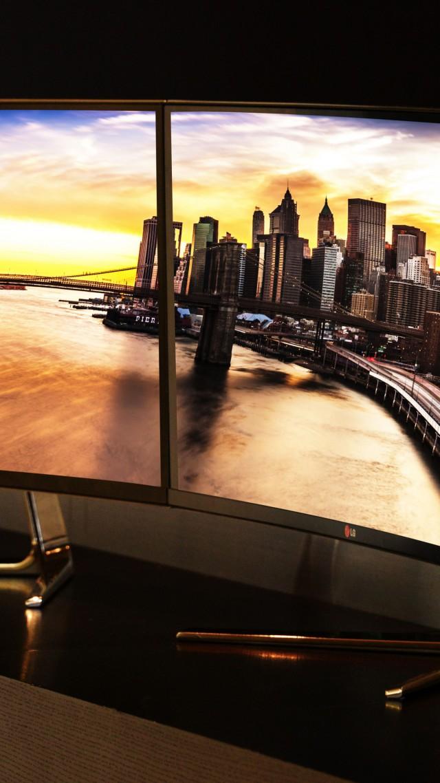 Wallpaper Lg Ultrawide Ces 2015 Qhd Ips Monitor Curves Hi Tech