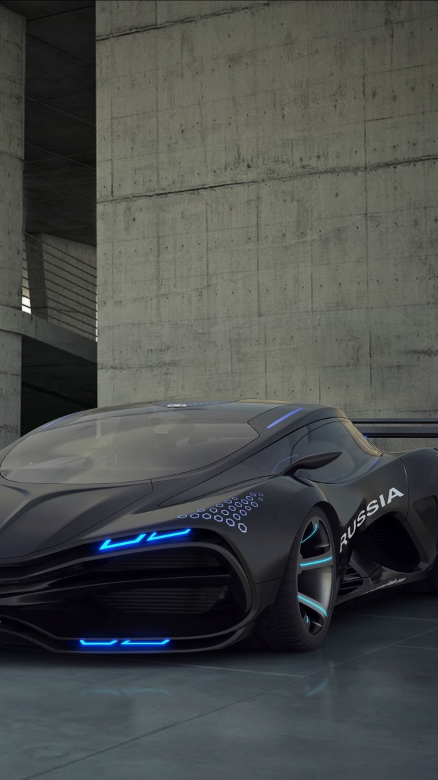 Wallpaper Lada Raven Concept Supercar Sports Car