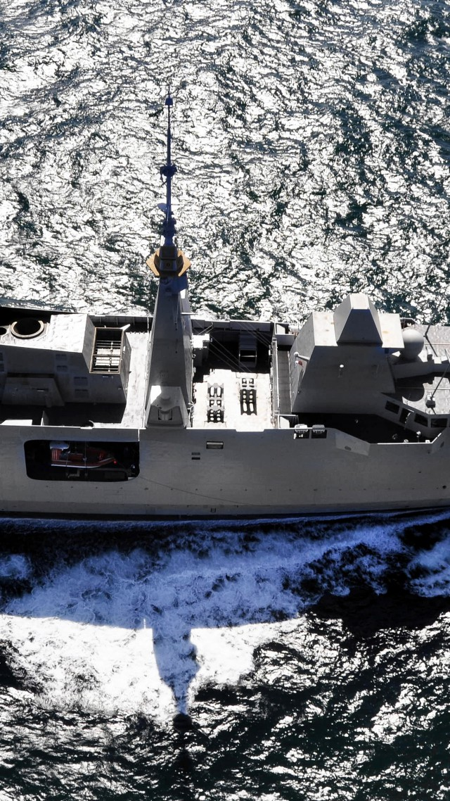 FREMM multipurpose frigate, French Navy, French Army (vertical)