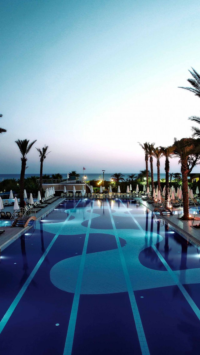 Limak Atlantis De Luxe Hotel, The best hotel pools 2017, tourism, travel, resort, vacation, pool, palms, sunbed (vertical)