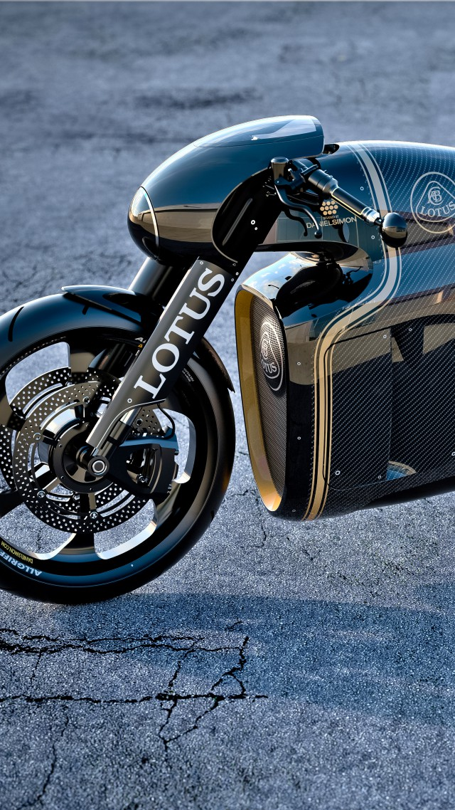 Lotus C-01, concept, motorcycle, Kodewa, superbike, cruiser, test drive, speed (vertical)