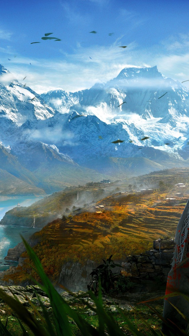 Best Home Cctv >> Wallpaper Far Cry 4, game, open world, Adventure games, shooter, Kyrat, Himalayas, Tibet, lake ...
