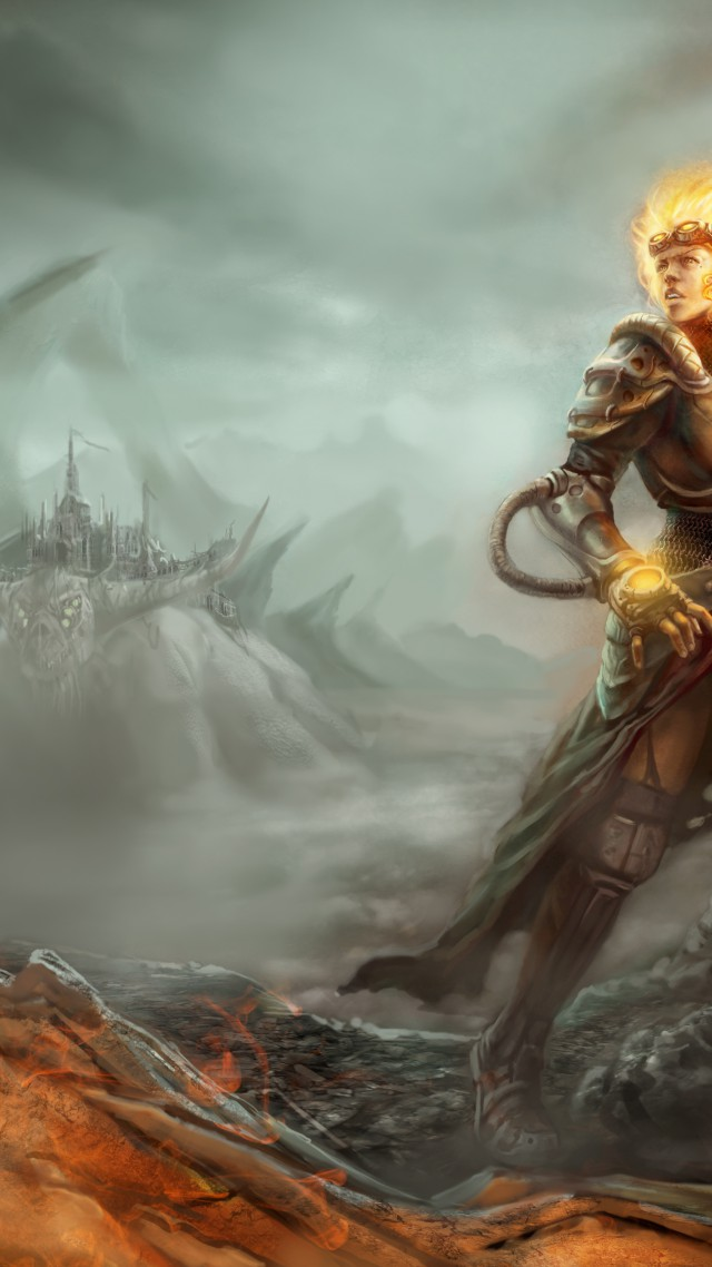 Magic the Gathering, Chandra Nalaar, RPG, strategy, author artwork (vertical)