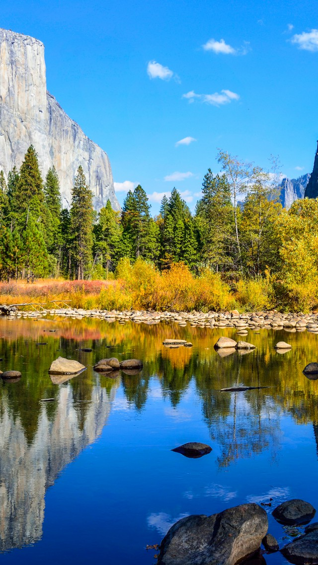 Yosemite, 5k, 4k wallpaper, El Capitan, forest, OSX, apple, mountains, lake (vertical)