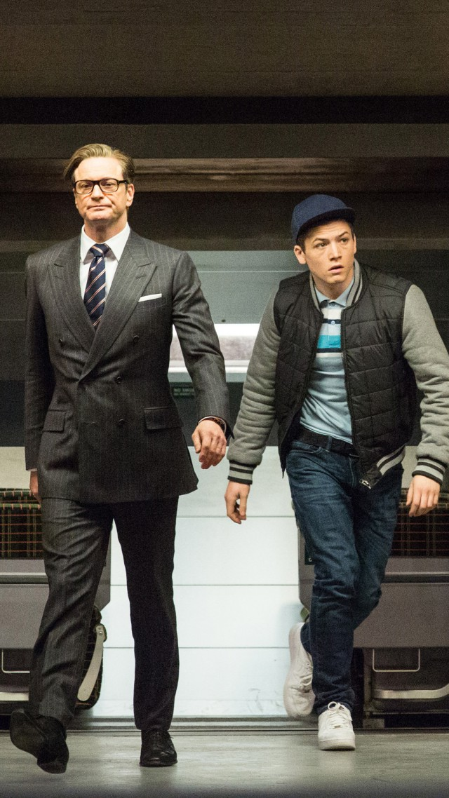 Colin Firth, Taron Egerton, Kingsman, Best Movies of 2015, crime (vertical)