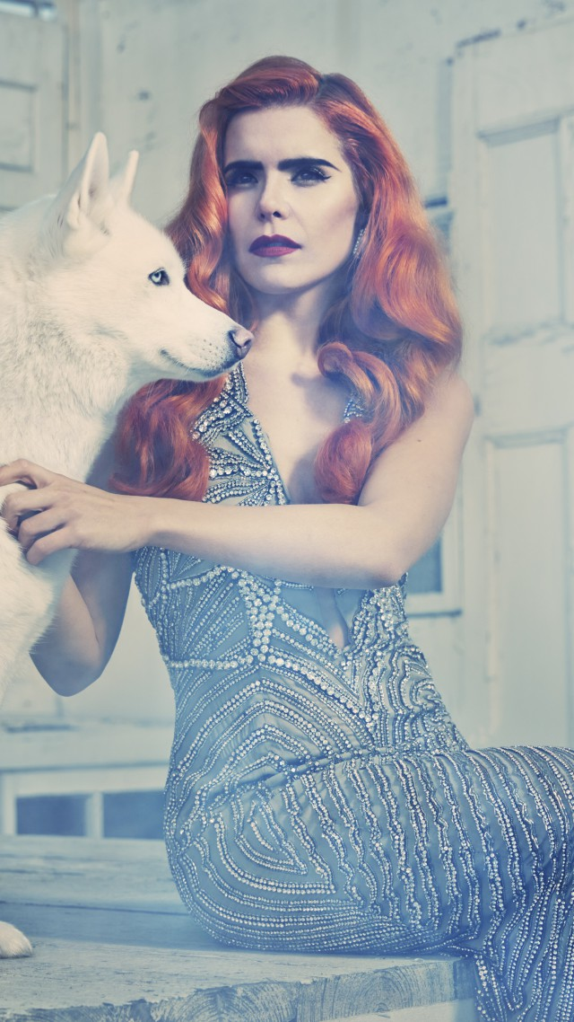 Paloma Faith, Most Popular Celebs in 2015, actress, singer, red hair, dog (vertical)