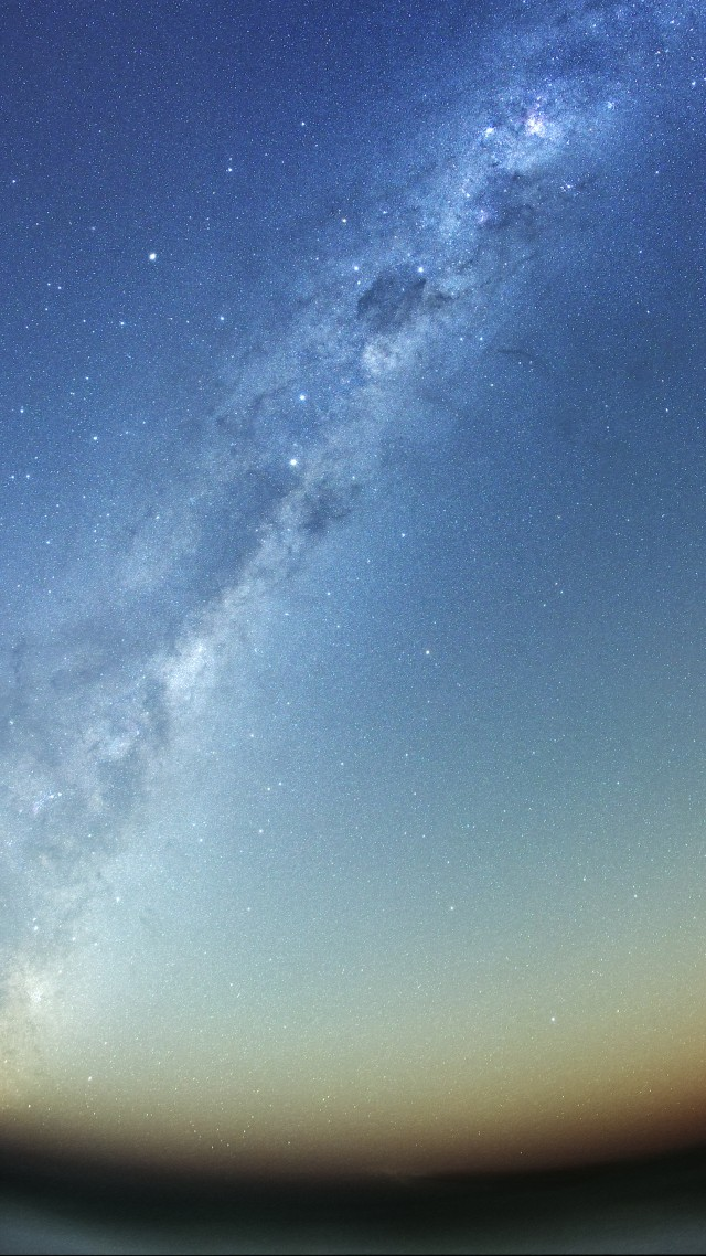 night sky, stars, night, Milky Way, mountains, land (vertical)