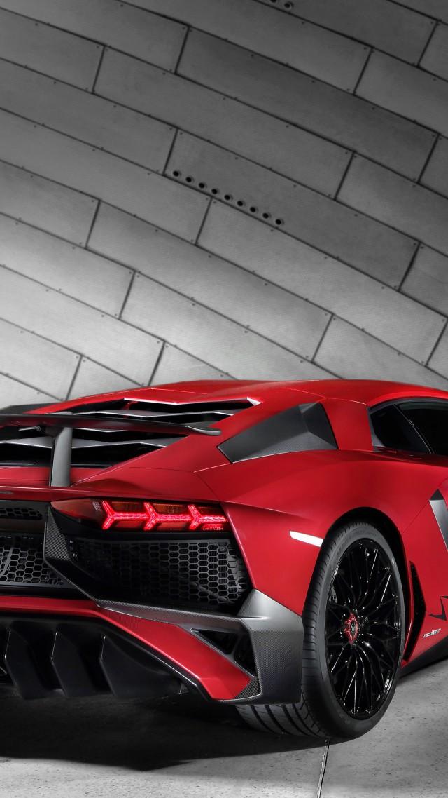 Wallpaper Lamborghini Aventador Lp 750 Superveloce Coupe Red