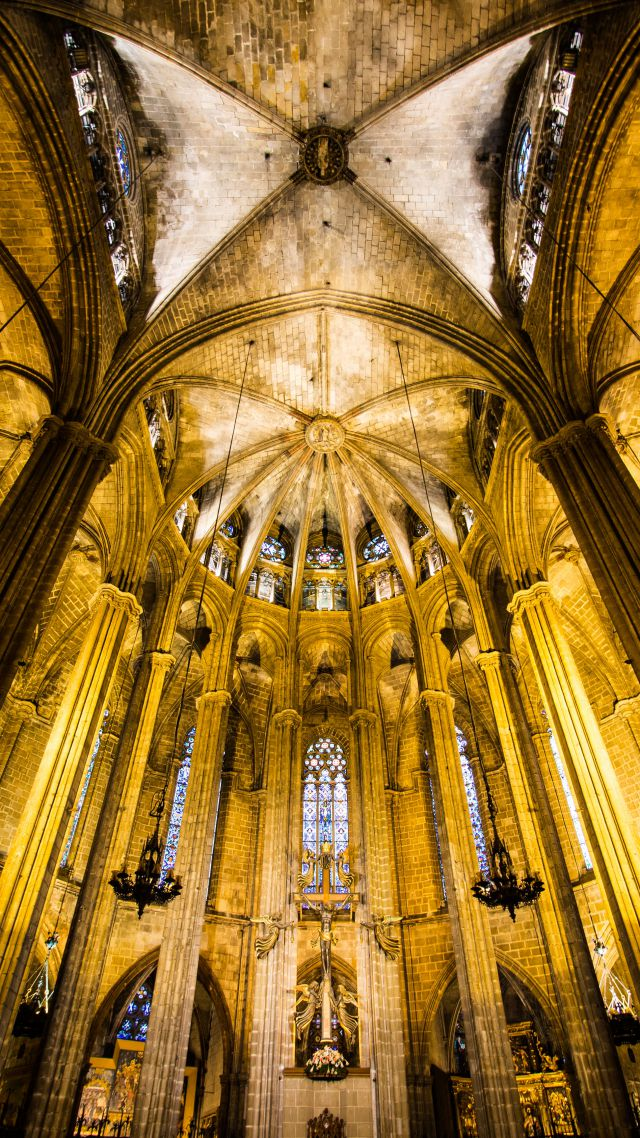 Barcelona Cathedral, Spain, tourism, travel, vacation (vertical)
