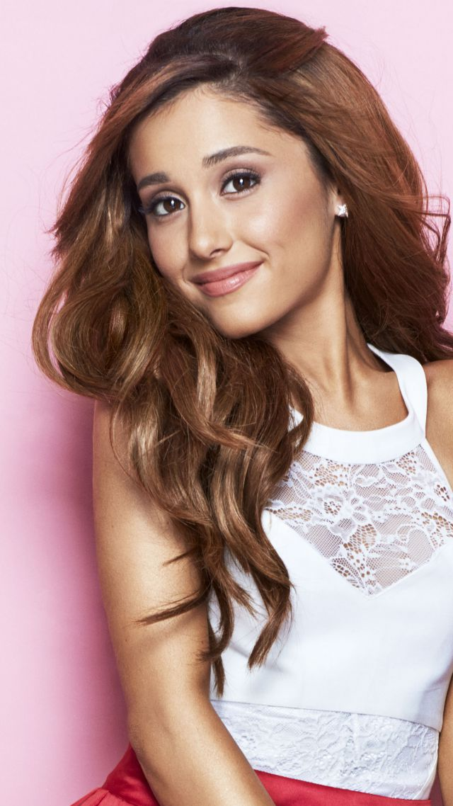 Ariana Grande, Top music artist and bands, singer, actress, brunette (vertical)