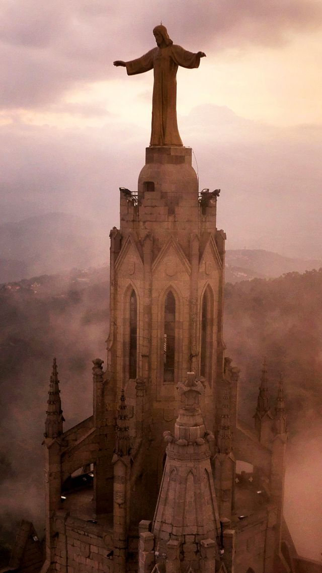 Church of the Sacred Heart of Jesus, Barcelona, Spain, Tourism, Travel (vertical)