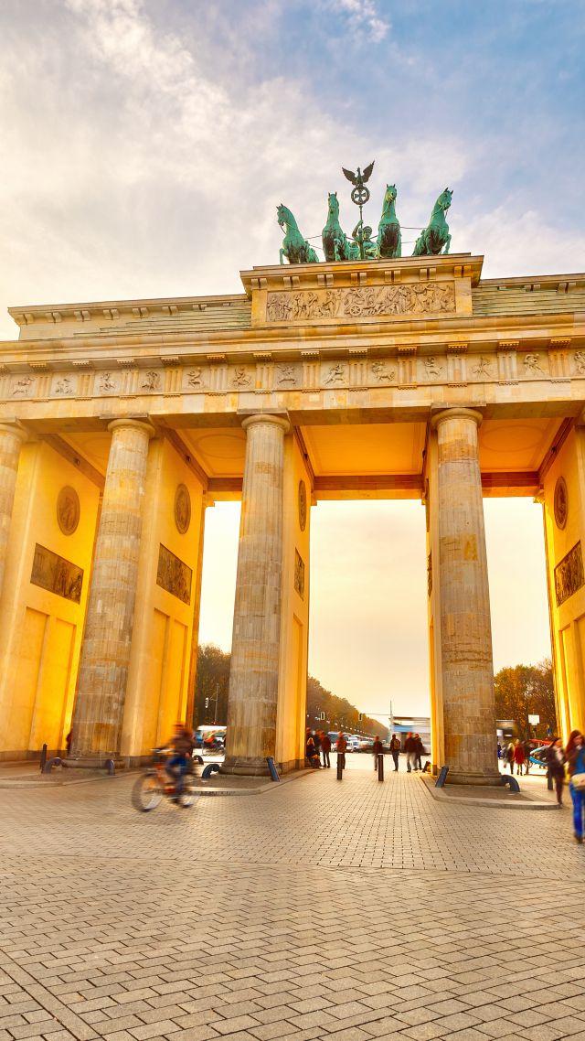 Wallpaper Brandenburg Gate Berlin Germany Tourism