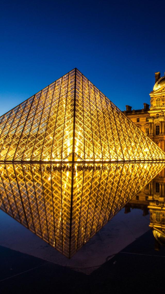 Wallpaper Louvre museum, France, Paris, Tourism, Travel