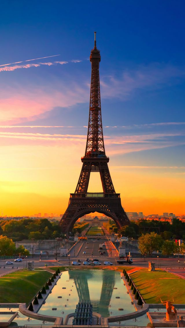 Eiffel Tower, Paris, France, Tourism, Travel (vertical)