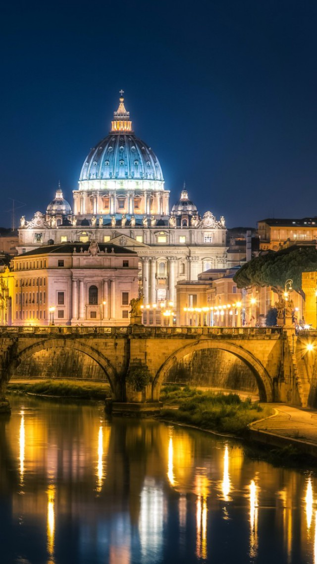 Wallpaper St Angelo Bridge Rome Italy Tourism Travel