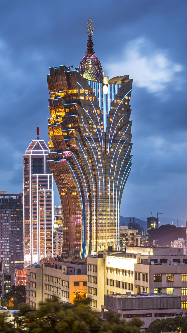 Grand Lisboa, Makao, China, Best hotels, tourism, travel, resort, booking, vacation (vertical)