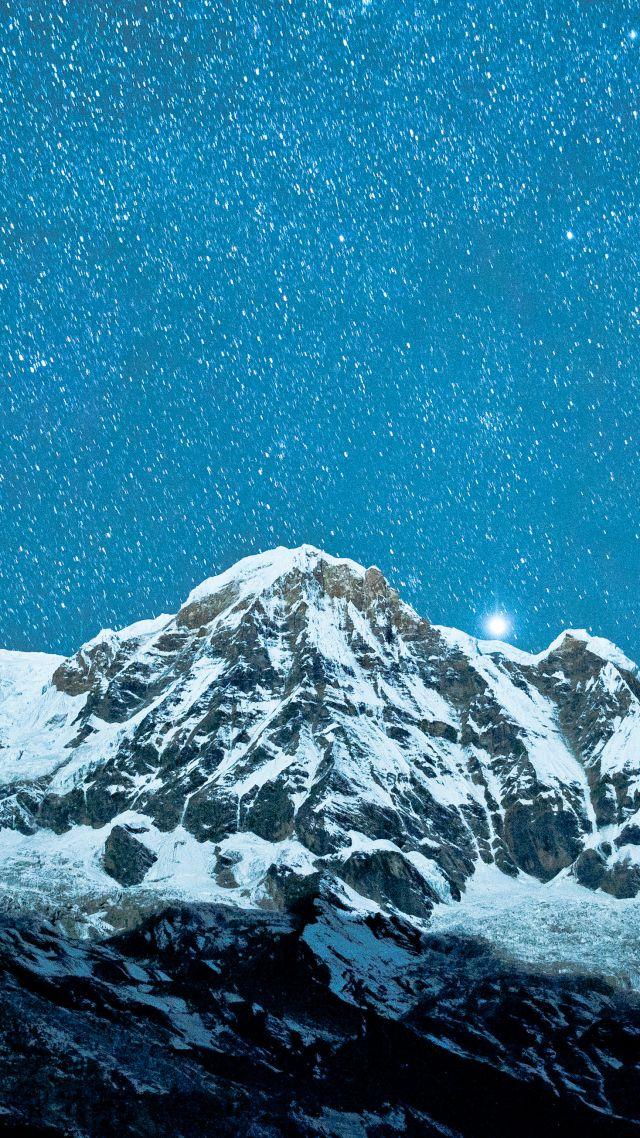 Bmw Mountain View >> Wallpaper Nepal, 5k, 4k wallpaper, Himalayas, night, stars, OS #5321