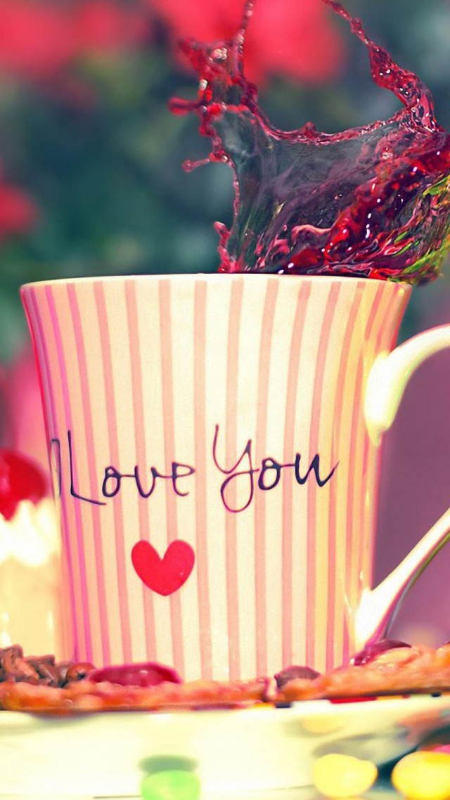wallpaper valentine s day love cup heart sweets coffee food 533
