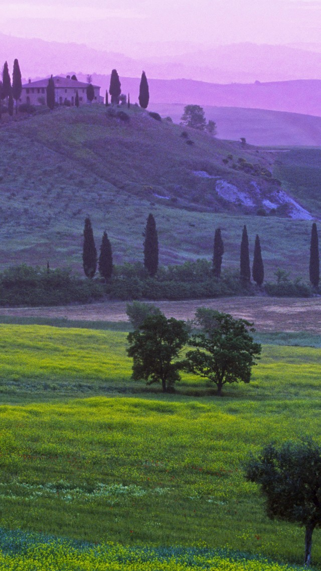 Tuscany, 5k, 4k wallpaper, 8k, Italy, Podere Belvedere Hotel, fields, meadows, villages, green, nature, booking, rest, travel (vertical)