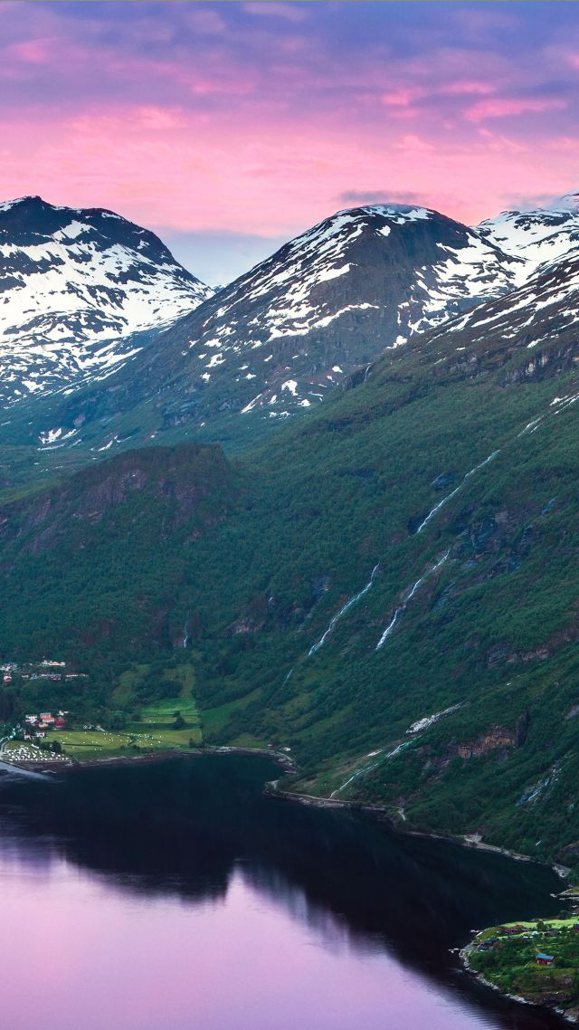 ... Norway, 5k, 4k wallpaper, fjord, mountains, river, sky (vertical