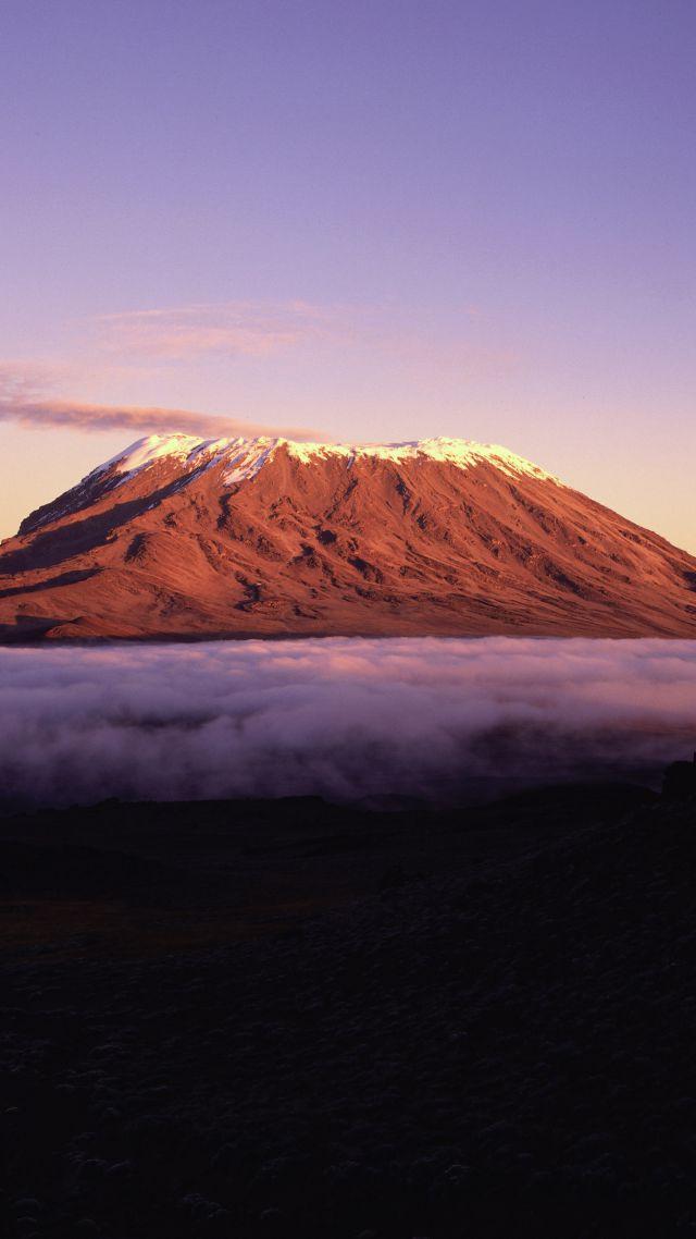 5k 4k Wallpaper Africa Mountains Sky Clouds Vertical