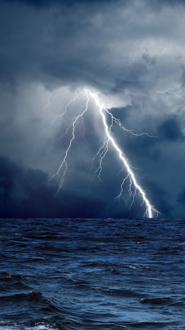 5k 4k Wallpaper 8k Ocean Storm Lightning Clouds
