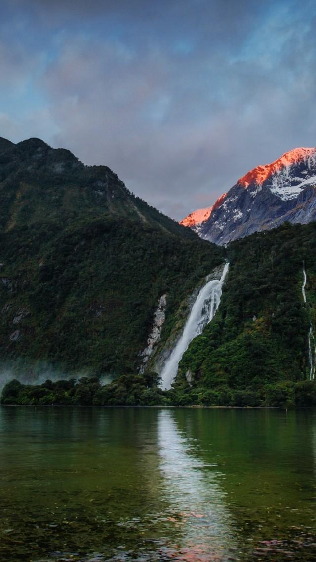 BMW Mountain View Service >> Wallpaper waterfalls, 5k, 4k wallpaper, mountains, sunset, lake, beach, foliage, plants, sky ...