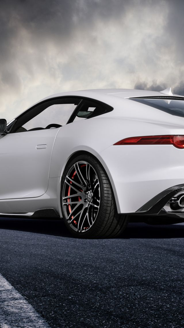 Wallpaper Jaguar F Type Coupe White Startech Cars