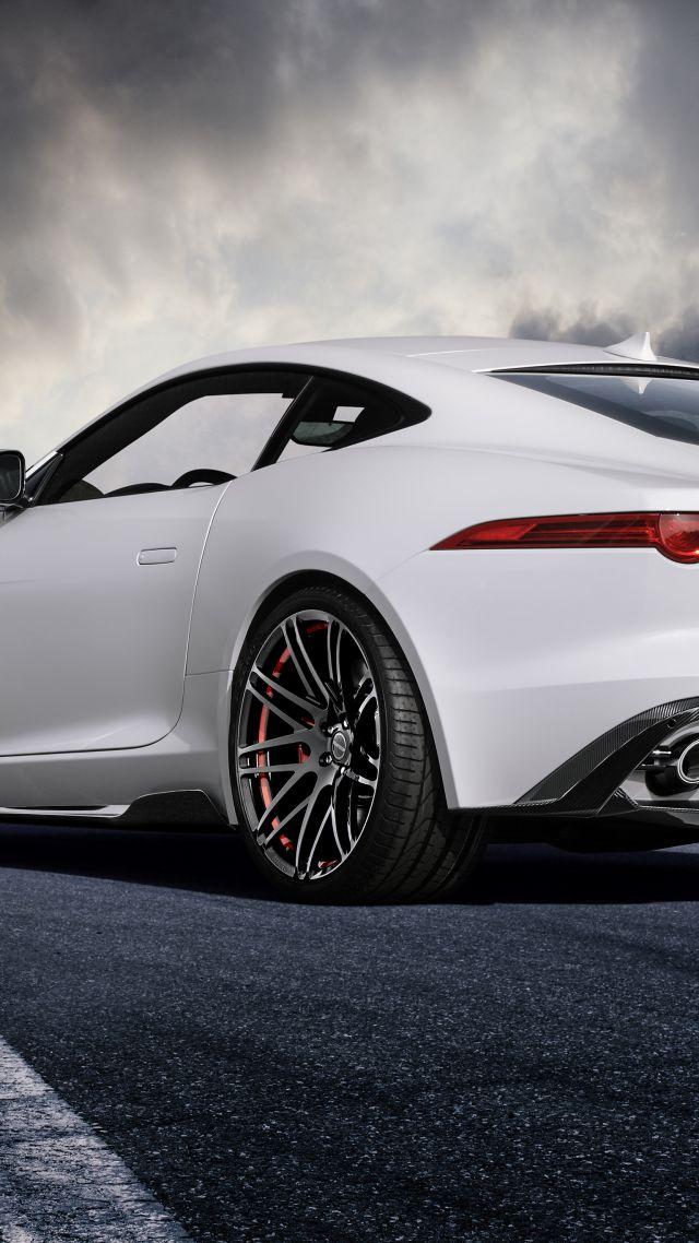 wallpaper jaguar f type coupe white startech cars