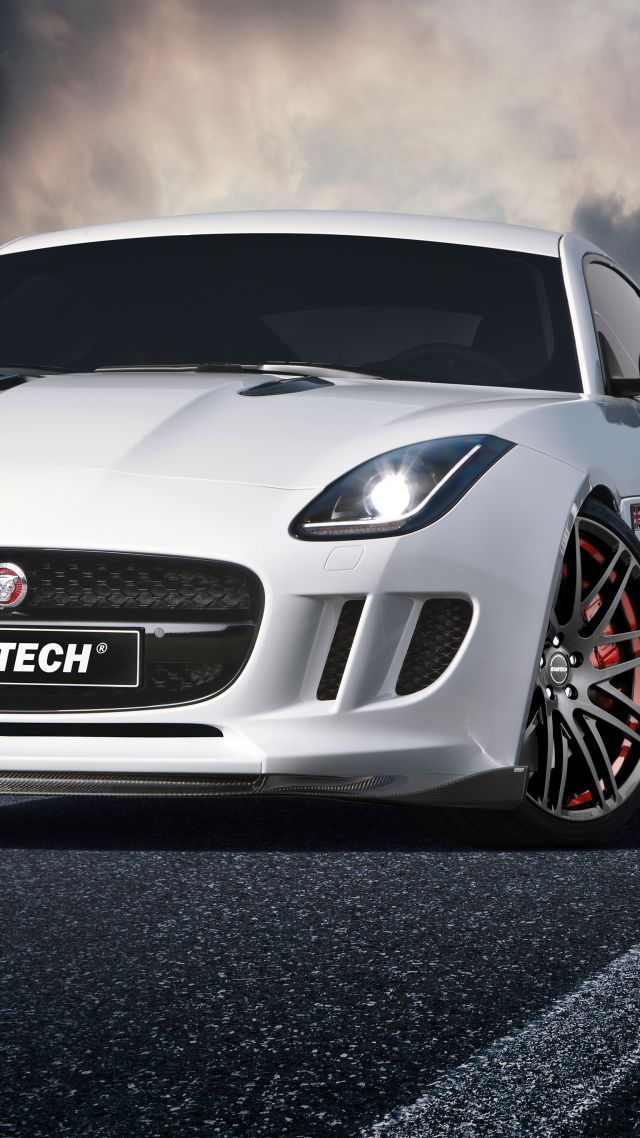 Wallpaper Jaguar F Type Coupe White Startech Cars Bikes 5953
