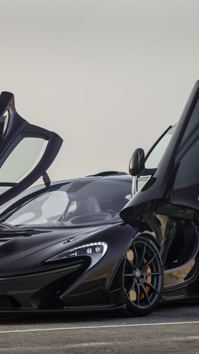 Horizontal McLaren P1 GTR Hypercar Sedan Black Vertical